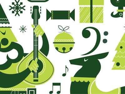 Christmas christmas holiday music illustration