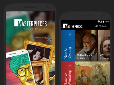 Masterpieces Android App for Samsung