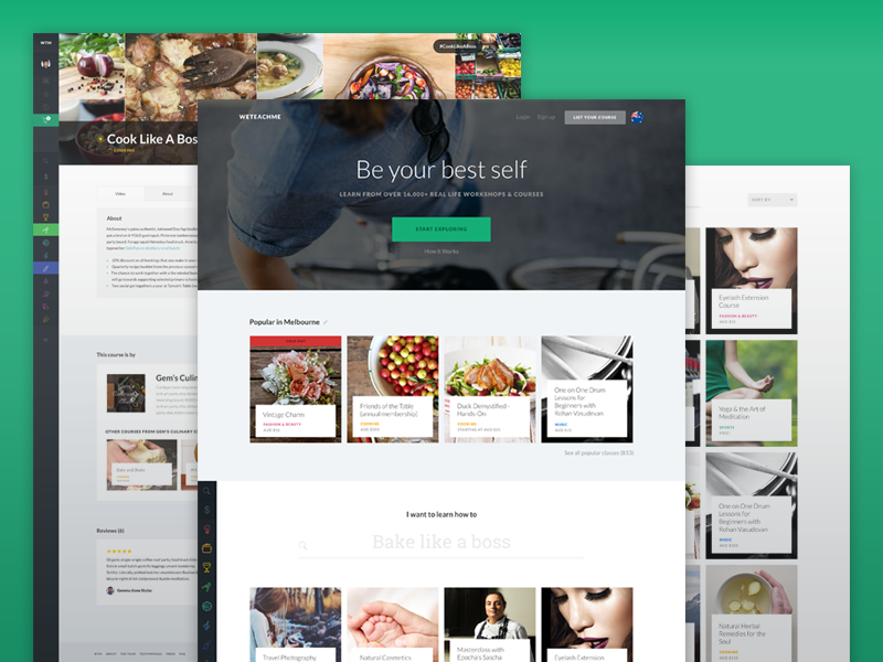 Weteachme Redesign By Melissa Ng For Melewi On Dribbble