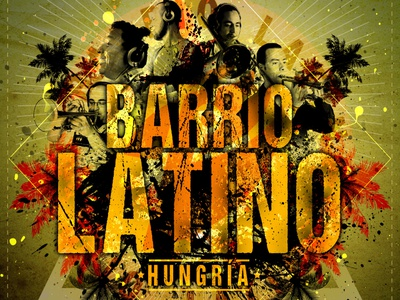Barrio Latino Album Cover trash illustration design typography logo graphic design music art album artwork album cover latino
