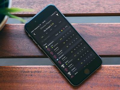 Fantasy Sports App ux ui betting fantasy sports mobile app ios