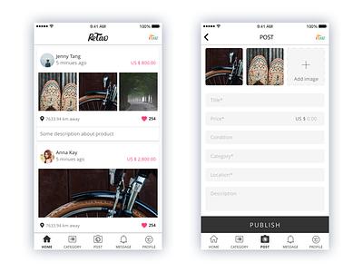 Retao Application ui ux app mobile