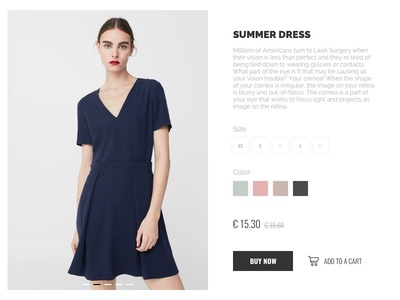 Product Detail Page dress fashion product landing shop shopping e-commerce