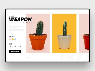 Cactus e-commerce shop cactus ipad designer affinity