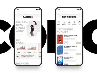 e-commerce app ux design ui design ui-ux ux ui shop minimal ios flat ecommerce app design ecommerce mobile clean app
