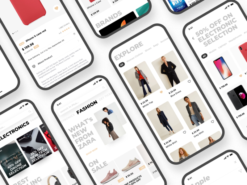 e-commerce app ux design ux ui deisgn ui shop mobile minimal ios flat ecommerce app ecommerce design clean app