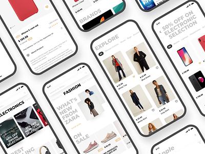 e-commerce app ux design ux ui deisgn ui shop mobile minimal ios flat ecommerce app ecommerce design clean app