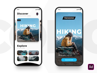 Activity App hiking acivity design web ios ux ui mobile app