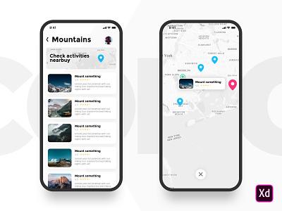 Activity App flat clean web mobile ux ui ios design app activity
