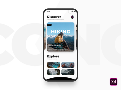 Activity App activity adobe xd clean flat design animation web ios ux mobile ui app