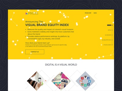 Visual Brand Equity Index canvas flat minimal pixlee yellow timline visual brand equity index