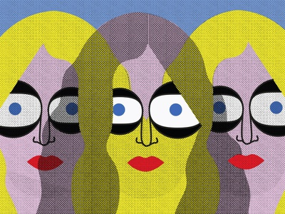 three little faces portrait woman vector simple print minimal dribbble character design graphic design editorial illustration illustration artist illustration art adobe illustrator illustration digital design character art drawing illustrator illustration
