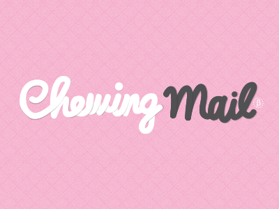 Logo Chewingmail logo identity courriel typography mailing