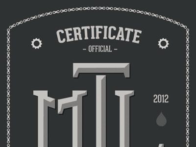 Ride MTL logo bike montréal rider certificate