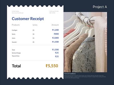 Day 17 - Email Receipt website webdesign email receipt receipt email adobe xd ui adobexd figma design dailyuichallenge dailyui daily 100 challenge daily app