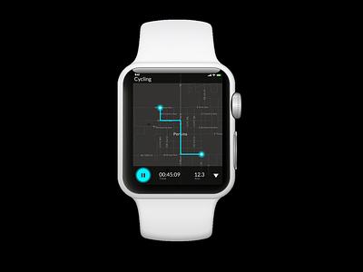 Day 20 - Location Tracker iwatch apple watch location tracker location day 20 ui design interface ux uiux ui adobe xd dribble adobexd figma daily ui dailyuichallenge dailyui daily 100 challenge app