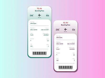 Day 24 - Boarding Pass design booking screen online app ticket boarding pass day 24 uiux adobe xd figma adobexd ui daily ui dailyuichallenge dailyui daily 100 challenge app