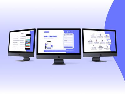 SANeForce - Landing Page ui landing page design figma graphic design