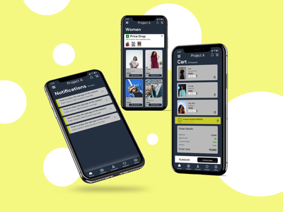 Project A - Shopping App ux design figma app