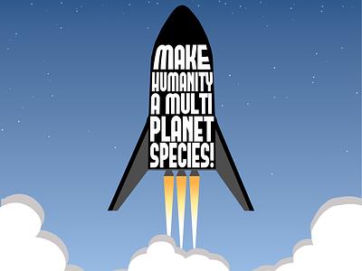 Space X illustrator adobe quote elon musk space x space design illustration