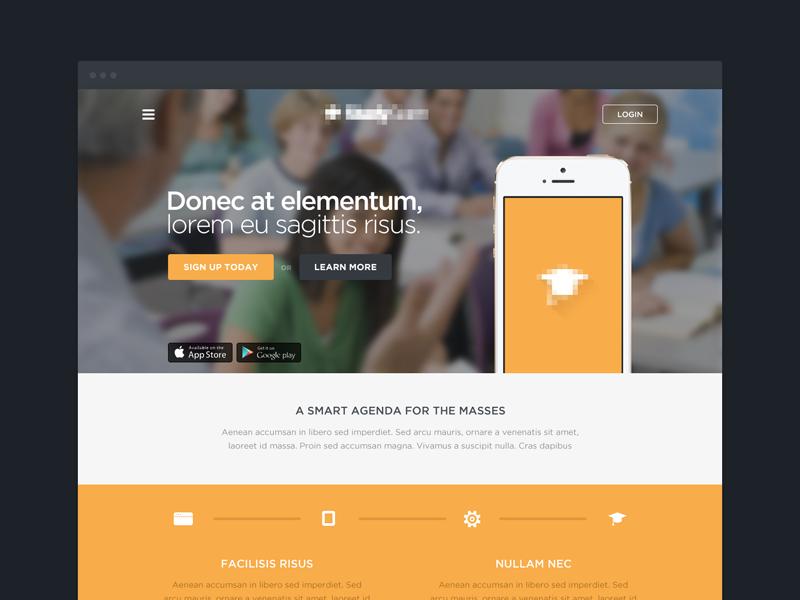 Mockup  webdesign education mockup design web mobile app orange clean slider android iphone