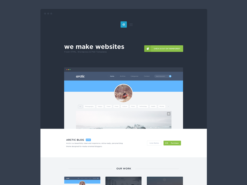 Portfolio WIP webdesign web design portfolio flat appearly appearlythemes themes themeforest