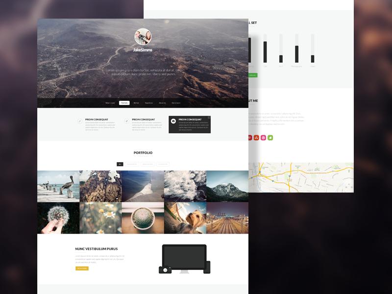 Arid Portfolio WIP themeforest themes appearlythemes appearly flat portfolio design web webdesign 1 page 1-page