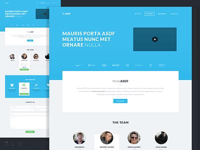 ThinkASDF Portfolio Mockup webdesign web design portfolio flat asdf thinkasdf services team