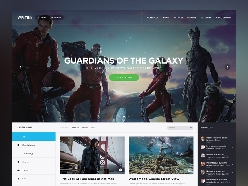 Writea WIP  design webdesign web ui news blogs cover