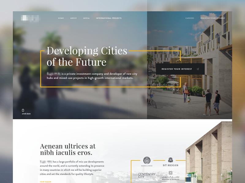 Developer Landing WIP firm investment homepage cities cover developer landing