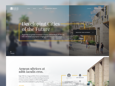 Developer Landing WIP firm investment homepage cities cover developer landing