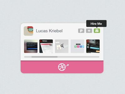 Mini-Dribbble UI