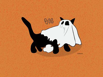 Ghoulish Cat branding logodesign minimal logo illustrator typography graphic design art illustration design cat