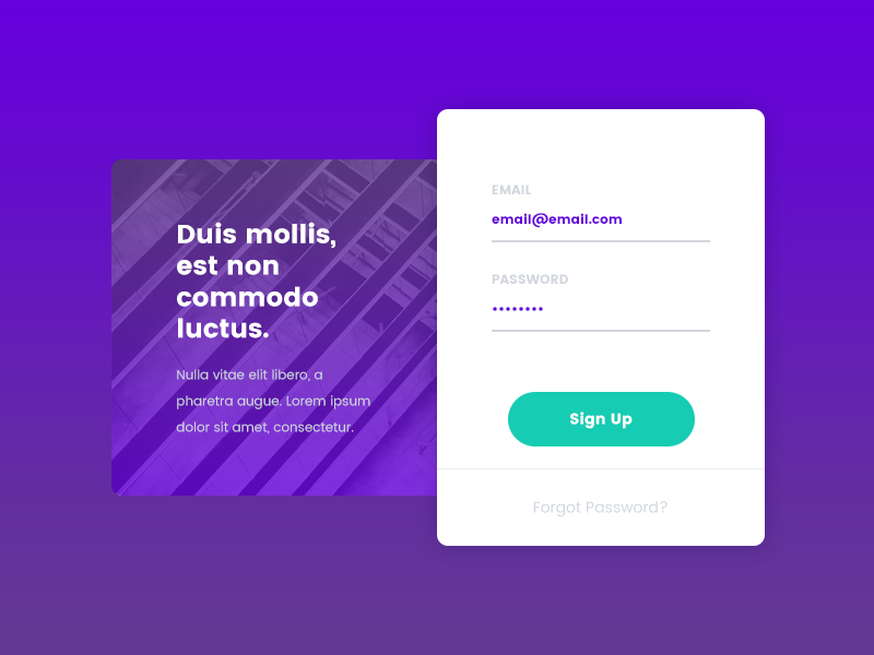 Daily UI: #001 Sign Up rounded corners daily ui sign up typography minimal recent clean interface user ui daily