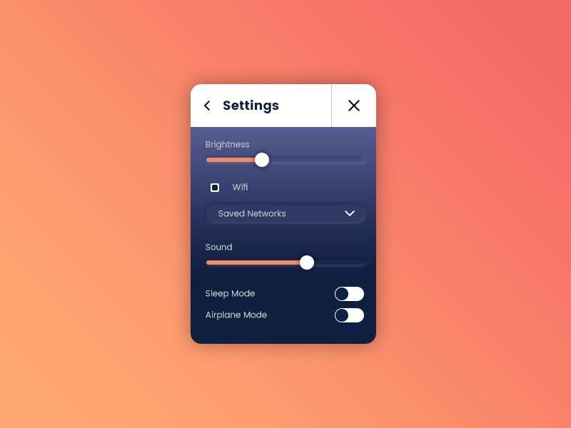 Daily UI: #007 Settings user interface daily ui interface user settings recent clean ui daily