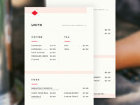 Daily UI: #043 Food/Drink Menu