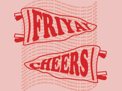 Friday's type flag graphic drawing art graphic design design typography vector illustration