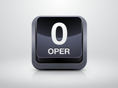 Operator Icon icon ios phone button zero