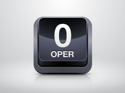 Operator Icon icon ios phone button zero