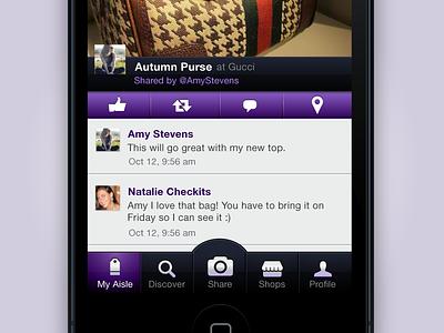 Aisle ios iphone app tabbar