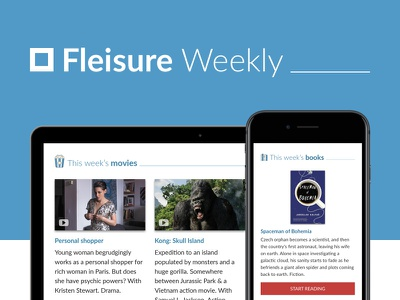 Fleisure Weekly - New movies and Books newsletter books book movies movie ux newsletter