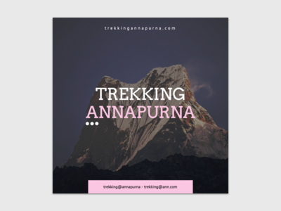 Design for a company of trekking and adventures