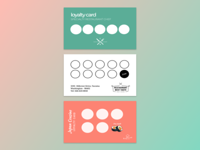 Loyalty card for restaurants.
