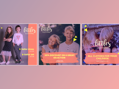 Corporate design for a children's clothing store.