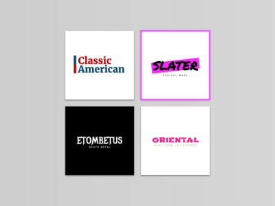 Logo design for several companies.