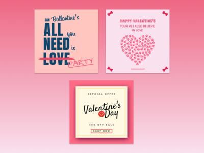 Designs for Valentine's day.
