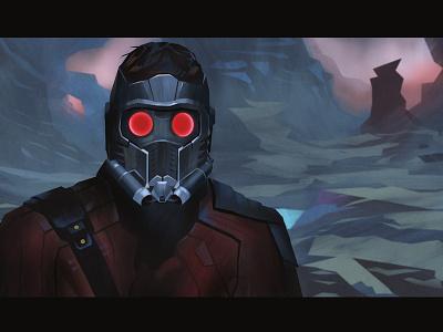Starlord digitalpainting illustration portrait marvel guardiansofthegalaxy starlord