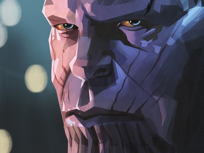 Thanos infinitywar thanos marvel comics digitalpainting portrait illustration