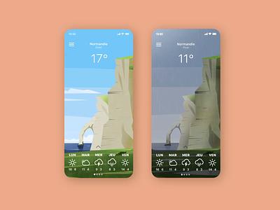 Weather app animation ux design app ui design ui illustration