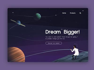 Header test webdesign header illustration header design ui design illustration